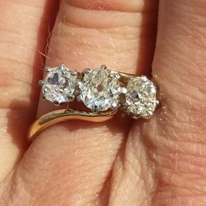 Beautiful old cut diamond ring for wedding