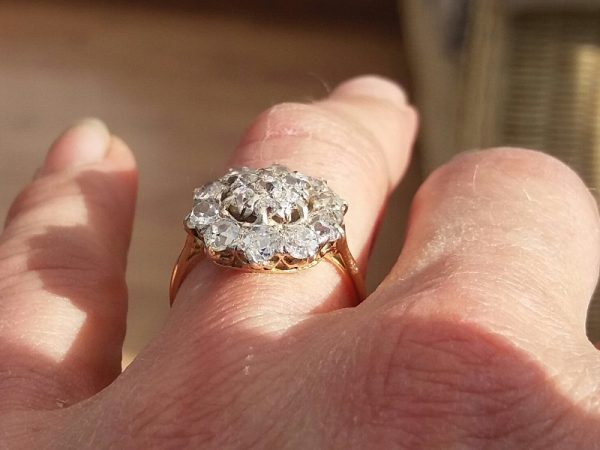 Buy old cut diamond cluster ring