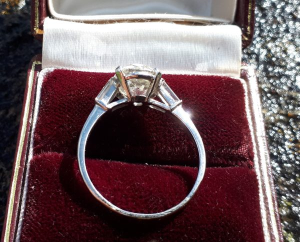 Exceptional platinum 3.50ct solitaire ring