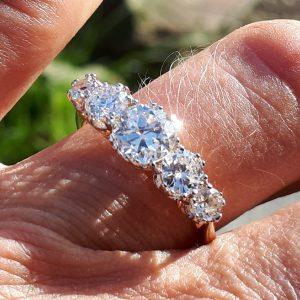 2ct Old cut diamond ring