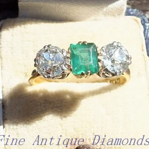 Special old cut diamond ring