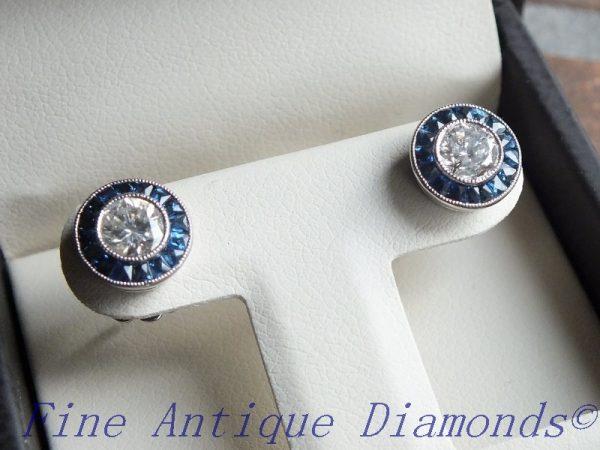 Rare diamond earring pair