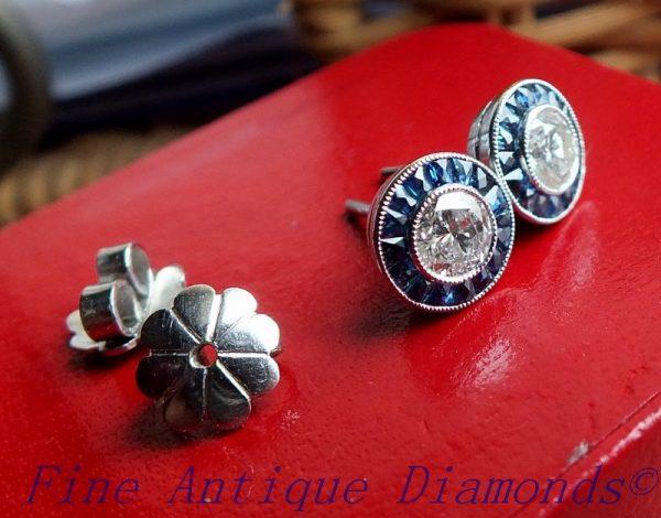 Beautiful diamond earring pair