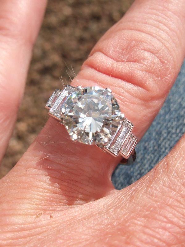 Stunning 2.42ct diamond solitaire ring