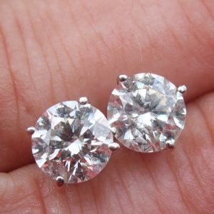 Outstanding 2.40ct solitaire earrings