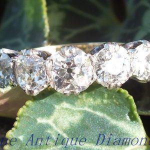 Original old cut diamond 5 stone ring