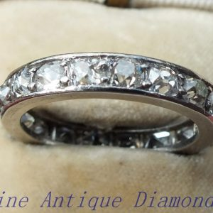 Full eternity ring platinum cushion cut diamonds