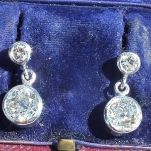 Stunning antique diamond earrings