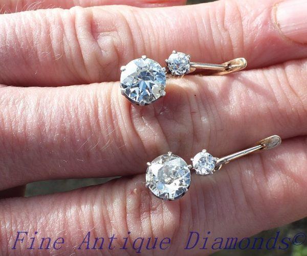 Stunning antique diamond earrings