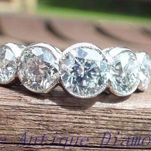 Vintage 5 stone diamond ring