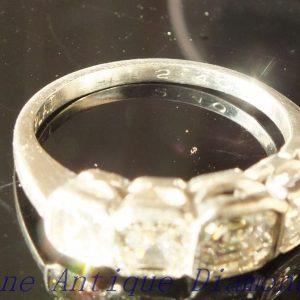 2.40ct antique asscher cut platinum ring