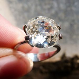 Stunning 3.36CT old cut diamond ring