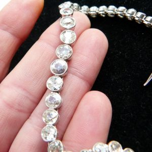10ct old cut diamond line bracelet a vey rare item