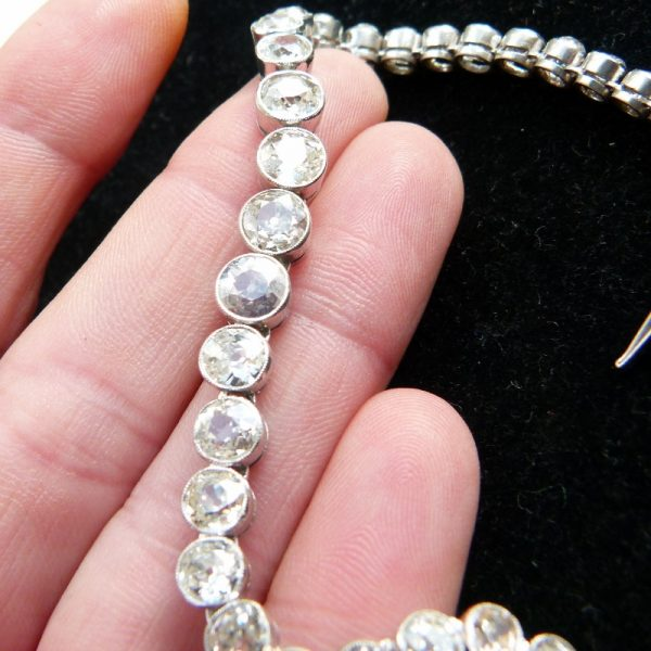 10ct old cut diamond line bracelet a vey rare item