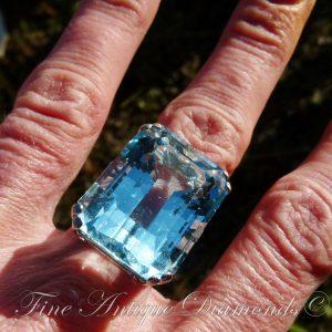 33ct Aquamarine ring