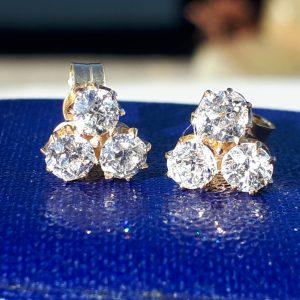Old cut diamond earrings
