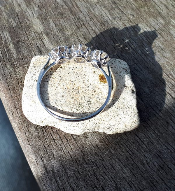 Top quality old cut diamond ring