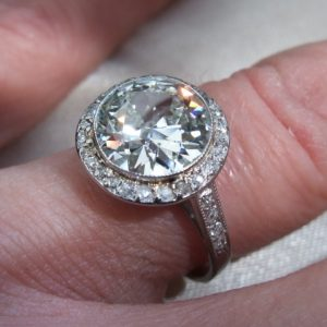 Superb old cut diamond solitaire ring