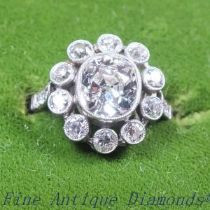 Superlative special old cut diamond ring