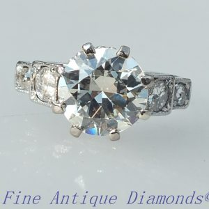 Old cut diamond solitaire 2.30ct ring