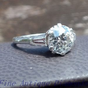 2.70ct stunning old cut diamond solitaire ring