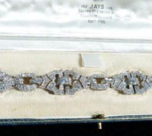 Superb 10ct old cut diamond bracelet
