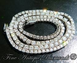 Stunning diamond line necklace 11.95ct