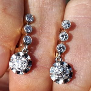 Antique diamond earrings make a perfect gift